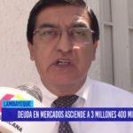 Chiclayo: Deuda en mercados asciende a 3 millones 400 mil soles
