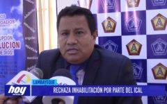 Chiclayo: Rechaza inhabilitación por parte del ICAL