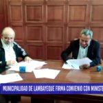 Chiclayo: Municipalidad de Lambayeque firma convenio con Ministerio de Vivienda