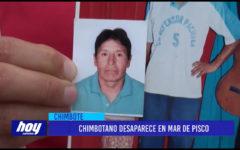 Chimbote: Chimbotano desaparece en mar de pisco