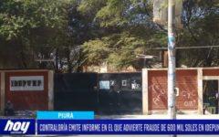Piura: Contraloría emite informe en el que advierte fraude de 600 mil soles en Idepunp