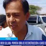 Piura: Dren Sullana primera obra de reconstrucción a cargo de la Municipalidad Provincial