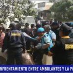 Piura: Enfrentamiento entre ambulantes y la Policía Nacional