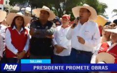 Piura: Presidente Martín Vizcarra promete obras en Sullana
