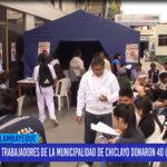 Chiclayo: Trabajadores de la Municipalidad de Chiclayo donaron 40 unidades de sangre