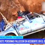 Fallecen siete personas en accidente en el Día del Padre en Sánchez Carrión