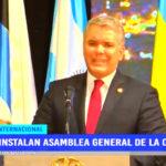 Instalan asamblea general de la OEA
