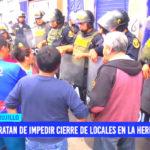 Tratan de impedir cierre de locales en La Hermelinda