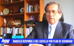 Marcelo responde a Del Castillo por plan de seguridad