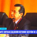 Ante críticas David Calderón defiende a gestión de Manuel Llempen