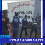 Chiclayo: Disparan a personal municipal