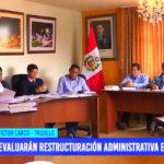 Evaluarán restructuración administrativa en municipio