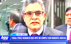 Lima: Fiscal Pérez denunció que INPE no cumple con mandato judicial