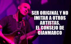 Gian Marco te aconseja a ser original y no imitar a otros