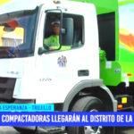 Nuevas compactadoras llegarán al distrito de La Esperanza