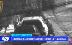 Ladrones de autopartes son detenidos en flagrancia