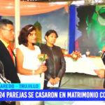 24 parejas se casaron en matrimonio comunitario en Laredo