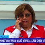 Ministra de salud visitó hospitales por casos de Guillain Barré