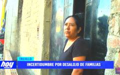 Incertidumbre por desalojo de familias