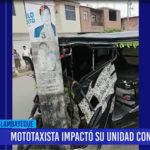 Chiclayo: Mototaxista impacto su unidad contra poste