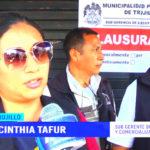Municipalidad de Trujillo clausura locales sin licencia en La Hermelinda