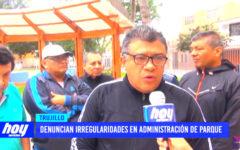 Denuncian irregularidades en administración de parque en La Noria