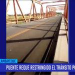 Chiclayo: Puente Reque restringido el tránsito por 15 días