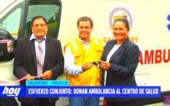 La Libertad: concesionaria del Puerto Salaverry dona ambulancia al centro de salud