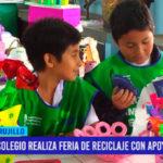 Colegio realiza feria de reciclaje con apoyo del Segat