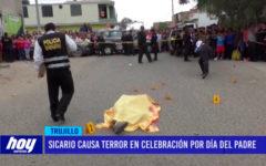 Sicario causa terror en celebración por el Día del Padre