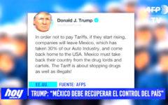 """Trump: """"México debe recuperar el control del país"""""""