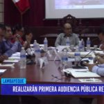 Chiclayo: Realizarán primera audiencia pública regional
