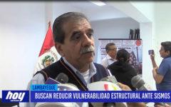 Chiclayo: Buscan reducir vulnerabilidad estructural ante sismos