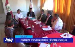 Chimbote: Contralor visita Municipios de la sierra de Áncash