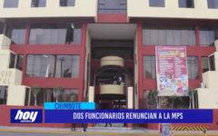 Chimbote: Dos funcionarios renuncian a la MPS