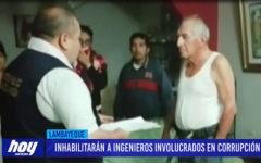 Chiclayo: Inhabilitarán a ingenieros involucrados en corrupción