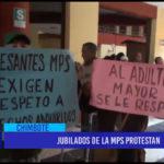 Chimbote: Jubilados de la MPS protestan