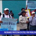 Chiclayo: Pacoranos protestan en EPSEL por problema de agua