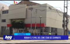 Áncash: Roban s/ 6 mil del Cine Star de Chimbote