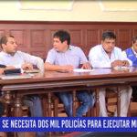 Chiclayo: Se necesita dos mil policías para ejecutar medida judicial