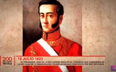 Riva Agüero disolvió el Congreso que funcionaba en la Casa de la Emancipación