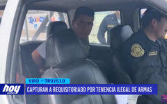 Capturan a requisitoriado por tenencia ilegal de armas