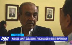 Alcalde Marcelo admite que algunos funcionarios no tienen experiencia