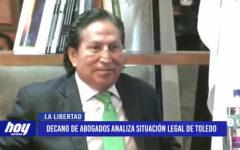 Decano de abogados analiza situación legal de Alejandro Toledo