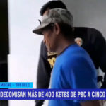 Decomisan más de 400 ketes de pbc a cinco detenidos