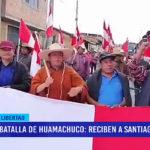 Batalla de Huamachuco: recibieron a santiaguinos