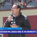 Inauguran millonaria obra de mejoramiento en colegio de Huamachuco