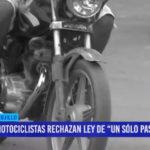 "Motociclistas rechazan Ley de ""un sólo pasajero"""