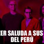 Weezer ya está pronto de llegar a Lima y saluda a sus fans