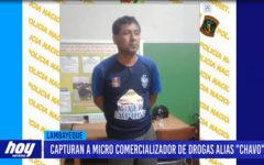 "Chiclayo: Capturan a micro comercializador de drogas alias ""Chavo"""